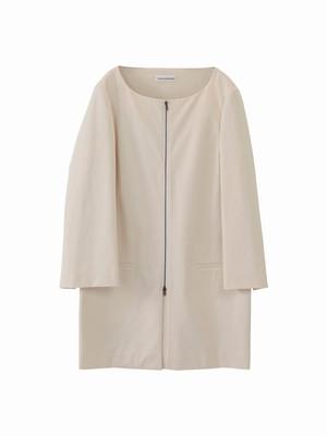 Sleeve slit coat / cream / S15CO01
