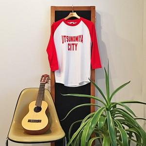 【SALE!!】ラグラン 七分袖Tシャツ UTSUNOMIYA CITY レッド