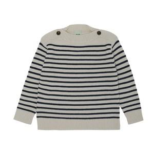 【FUB】 ボーダー ボートネック ニット セーター メリノウール エコテックス認証  2021AW BOATNECK BLOUSE ecru 100% merino wool (oekotex)