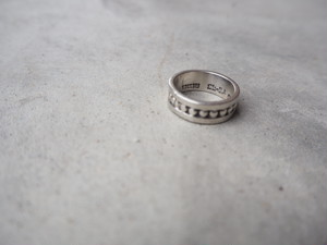 〈vintage silver925〉dot band ring
