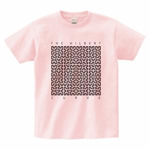 ヒルベルト曲線Tシャツ_ライトピンク/The Hilbert Curve T (Light Pink)