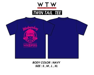 WTW twin tail fpv navy T-shirt