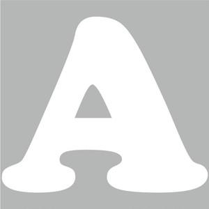 アルファベットA~Z(白、Lサイズ、H100mm)