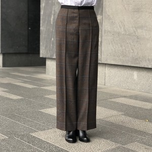 【CINOH】CHECK PIN TUCK PANTS