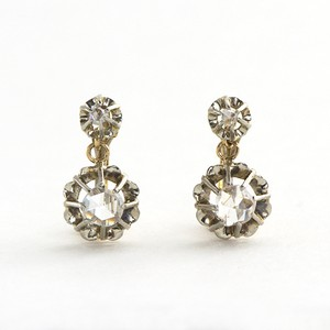 Rose-cut Diamond Drop Earrings