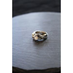 美しくスタイリッシュな造形【SURREALISTE】Siver925×Zirconia Unisex Ring シルバー×ジルコニア ユニセックスリング SL-R-06(Zir)