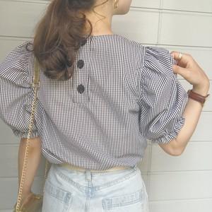back button balloon blouse