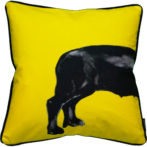 Jimmie Martin Cushions Yellow sausage dog [BACK] 中材なし
