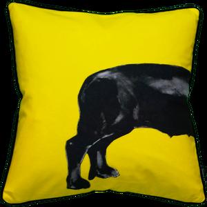 Jimmie Martin Cushions Yellow sausage dog [BACK] 中材なし