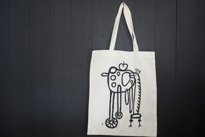 hand painting bag  手描きトートバックB[together]