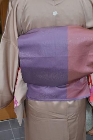 金粉の散る紫帯☆袋帯