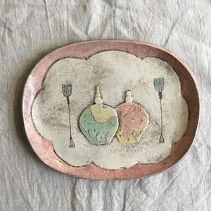 おひなさま楕円皿C