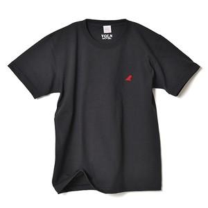 CREW NECK T-SHIRT / RED FIN / SUMI BLACK