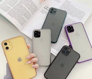 【送料無料】iPhone11 ケース 11pro iPhone11pro MAX クリアカバー ラインカラー 可愛い  おしゃれ クリア i1141