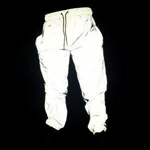 反射パンツ レディース メンズ 男女兼用 大きいサイズ ダンスパンツ 衣装 ヒップホップダンスウェア 原宿系 カジュアルパンツ ロングパンツ ストリート ナイトスポーツジョギングパンツ2778