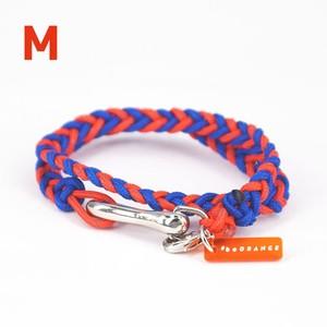 【Mサイズ】ブレスレット / オレンジ×ブルー (No.0004B)