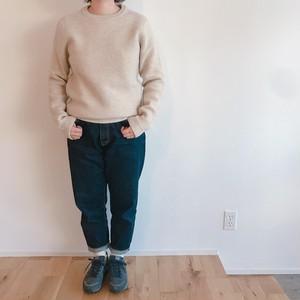 niuhans  Fine Wool Low Gauge Crew Neck Sweater
