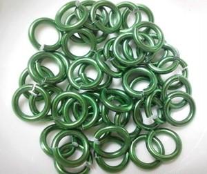 アルミカラー丸カン 1.5mm (グリーン)