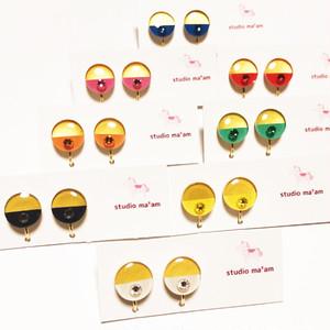 【wakuwaku gold】イヤリング まる ★種類と金具を備考欄へ