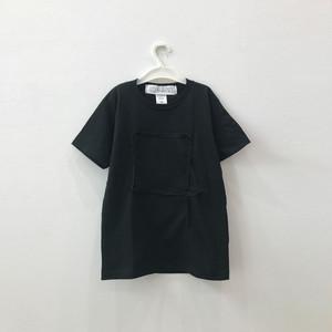【キッズSサイズ】ビッグシルエットTシャツ(しかく)Black