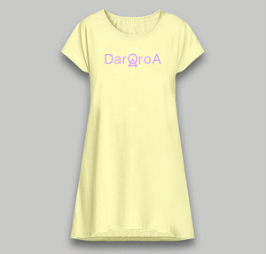 Dolman Logo-One Piece(Baby yellow × Lilac)
