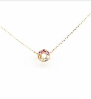 Amulet angel HALO color necklace(お守り天使ジュエリー)K18YG