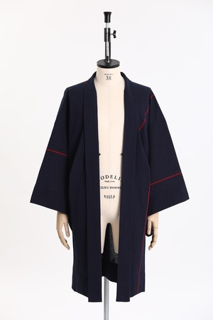 羽織 / 片貝染紅梅 / One line / Navy×Red(With tailoring)