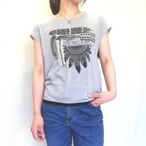 インディアン風 立体プリント Tシャツ 【送料無料】