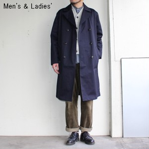 UpscapeAudience ベンタイルロングトレンチコート AUD2848 (NAVY)