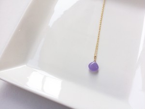 Blue lavender jade necklace