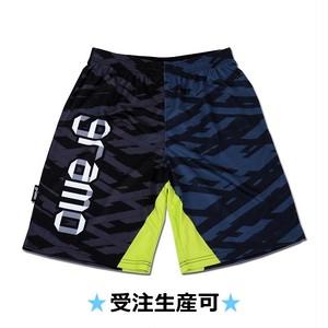 プラクティスパンツ「ribbon-pants」(ブラック×ネイビー/HP-021)☆受注生産可☆