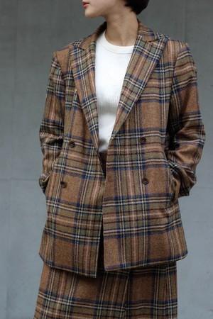 【Needles】d.b. jacket-wool plaid tweed-brown