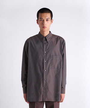 LEMAIRE STRAIGHT COLLAR SHIRT Coffee M 201 SH152 LF276