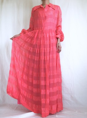 vintage pink chiffon dress