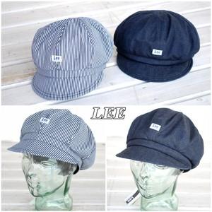 大き目のシルエットが魅力のキャスケット。LEE リー 帽子 キャスケット 作業帽子 デニム キャップ lca99001 デニム