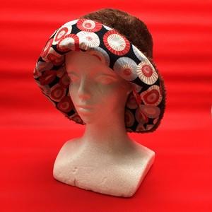 【和傘紋模様×Brown】Winterリバーシブル帽子