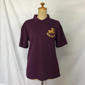 YABUSAME象形ロゴ  半袖ポロシャツ(パープル※黄ロゴ)