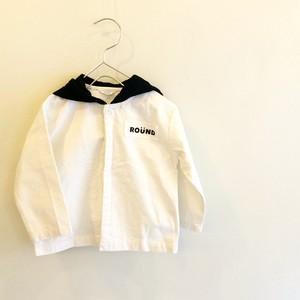 白×黒フーデットジャケット