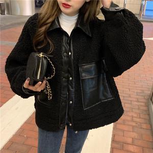 コージー 長袖 折り襟  着回し力抜群 韓国ファッション 上品 ダウンコート・アウター