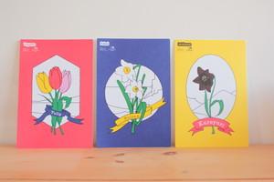 北陸の花 ハガキセット(3枚入り)