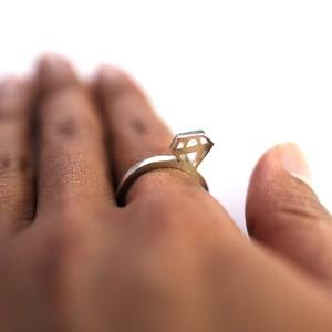 open works diamond ring/sv925