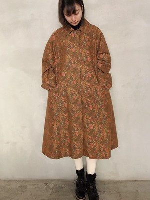 made in ITALY/vintage flower pattern coat