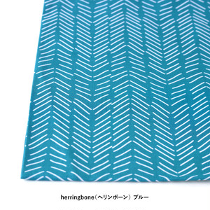 "【ネコポス対応】Scandinavian Handkerchief ""herringbone""【ANGERS Original】"