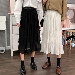 【ボトムス】超人気 ファッショ ンギャザー飾りAライン スカート