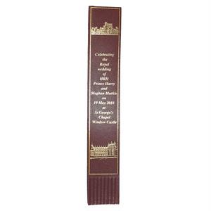 革製ブックマーク ヘンリー王子ご結婚記念【ブラウン】R.C.Brady 90251-BROWN