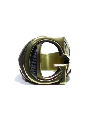 alphabet ring#G (Brass ・ 真鍮) -アルファベットモチーフ リングG-