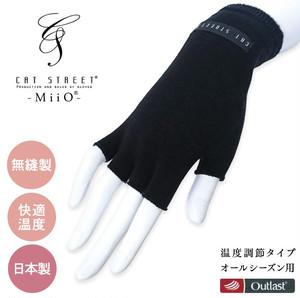 L MiiO ミーオ『温度調節タイプ』 演奏者用 手袋 男女兼用 ブラック