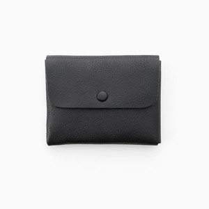 Wallet Black (シュリンクレザー、くるみボタンタイプ)