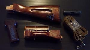 実物 AK-74 ダークウッドストックセット おまけ付!