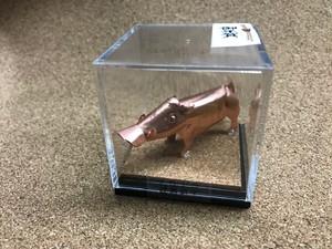 板金職人の作った哺乳類(イノシシ)銅